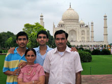 Ankit with family